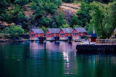 Ferienhaus mit Boot